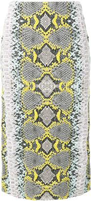 Salvatore Ferragamo snakeskin print pencil skirt