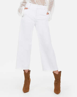 Express Super High Waisted Cropped Wide Leg Pants