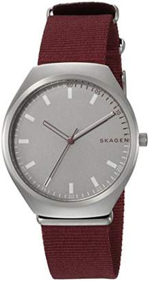 Skagen Men's 'Grenen' Quartz Stainless Steel and Leather Casual Watch
