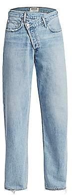 A Gold E AGOLDE Women's Crisscross Upsized Jeans