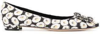 Manolo Blahnik embellished ballerina shoes