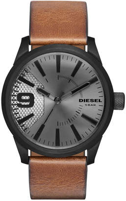Diesel Men's Rasp Light Brown Leather Strap Watch 46x53mm DZ1764