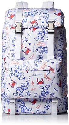 Disney (ディズニー) - [ディズニー] リュック ドナルド柄 3870-6900 WH シロ