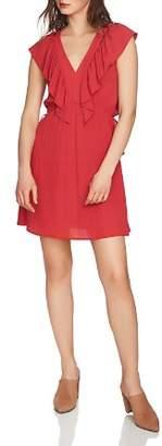 1 STATE 1.STATE Ruffle-Trim V-Neck Dress