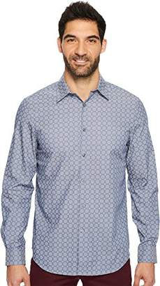 Perry Ellis Men's Long Sleeve Modern Geo Print Shirt