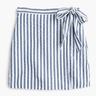 J.Crew Textured wrap mini skirt in stripe
