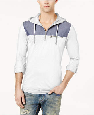 INC International Concepts I.n.c. Men's Quarter-Zip Hoodie, Created for Macy's