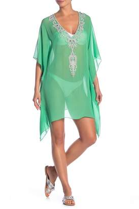 Natural Impressions Beaded V-Neck Kaftan