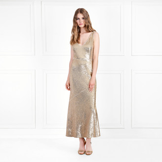 6cf06f22bd Rachel Zoe Lola Metallic Sequin Midi-Dress