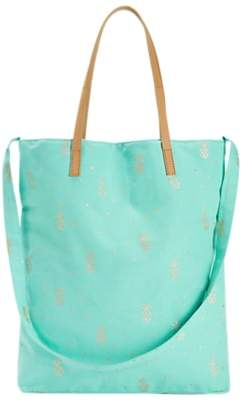 White Stuff Tara Print Canvas Tote Bag, Seabreeze Blue