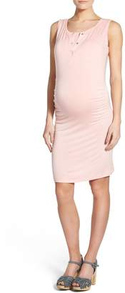 LAB40 'Joy' Sleeveless Maternity/Nursing Midi Dress
