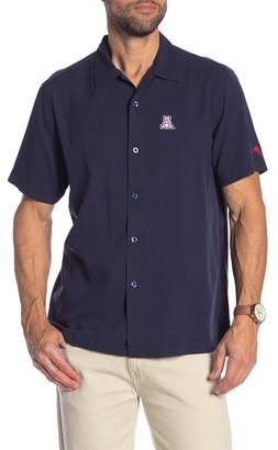 Tommy Bahama Team Sports Collegiate Catalina Silk Short Sleeve Standard Fit Shirt
