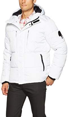 Southpole Men's Omni-Heat Softshell Bubble Hooded Outerwear Jacket