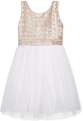 Crystal Doll Sequin Top Pleated Dress, Big Girls (7-16) $64 thestylecure.com