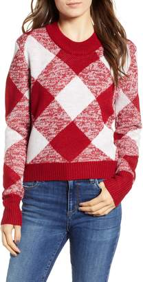The Fifth Label Oversize Gingham Knit Sweater