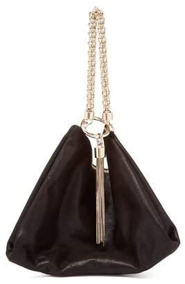 Jimmy Choo Callie Suede Clutch Bag - Womens - Black