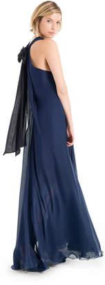 Max Studio silk mesh chiffon a-line dress