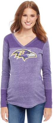 Motherhood Maternity Baltimore Ravens NFL Long Sleeve Maternity Graphic Tee