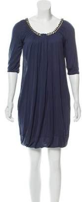 Balmain Chain-Link Accented Mini Dress