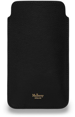Mulberry iPhone Plus Cover Black Cross Grain Leather