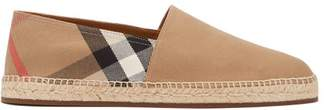 Burberry Pateman House Check Canvas Espadrilles - Mens - Tan Multi