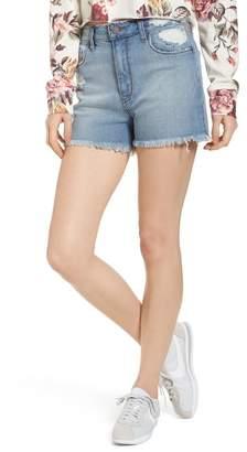 BP High Waist Distressed Denim Shorts