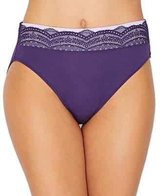 Warner's Women's No Pinching No Problem Microfiber Hicut Panty