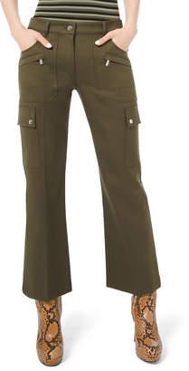 Michael Kors Cotton Twill Cargo Flare Pants