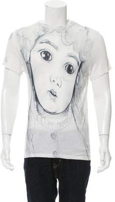 Christopher Kane Doll Face Graphic T-Shirt