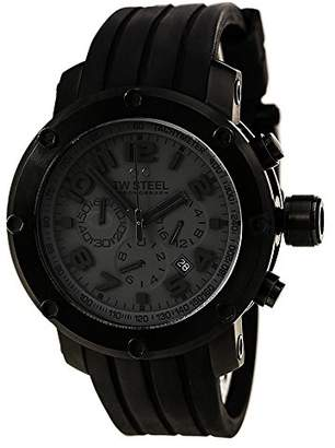 TW Steel Men's 'Grandeur Tech' Quartz Stainless Steel and Rubber Casual Watch