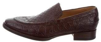 Gucci Laceless Crocodile Loafers w/ Tags