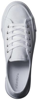 Lavera Women's Xhilaration Flatform Canvas Sneaker - White