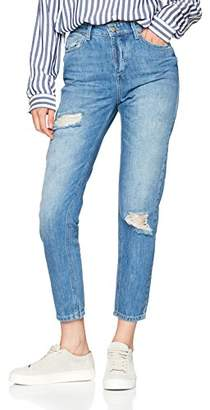 Selected Women's Sfroy Mid Rise Friend Day Blue Camp J Boyfriend Jeans