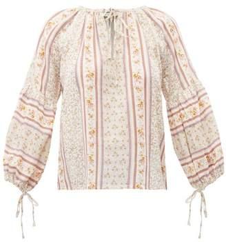D'Ascoli Devon Floral Print Cotton Blouse - Womens - Yellow
