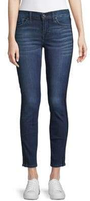 7 For All Mankind Velvet Stripe Skinny Jeans