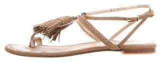 Stuart Weitzman Tassel Leather Sandals