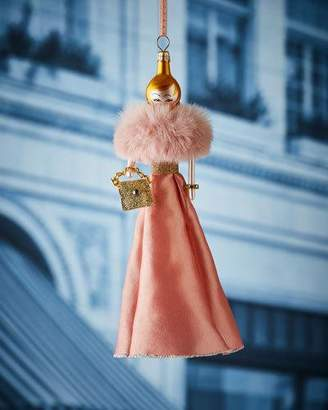 Ralph Lauren De Carlini in Pink Dress Christmas Ornament