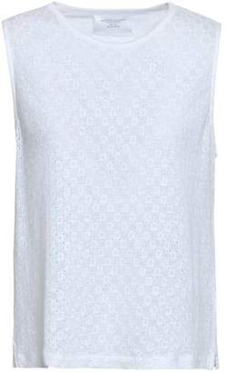 Majestic Filatures Embroidered Linen-jersey Tank