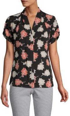 Calvin Klein Floral V-Neck Top