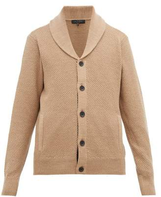 Rag & Bone Cardiff Shawl Collar Wool & Cotton Cardigan - Mens - Camel