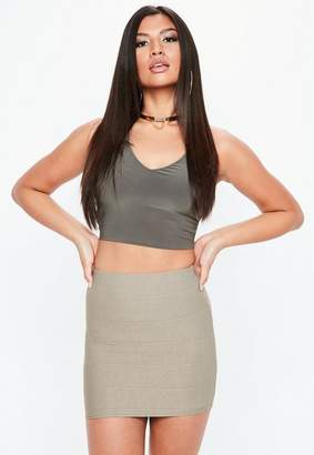 Missguided Bandage Mini Skirt