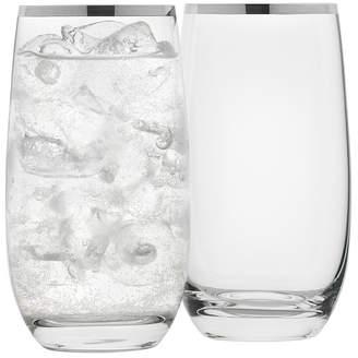 Set of 4 Selene Platinum Trim Highball Glasses