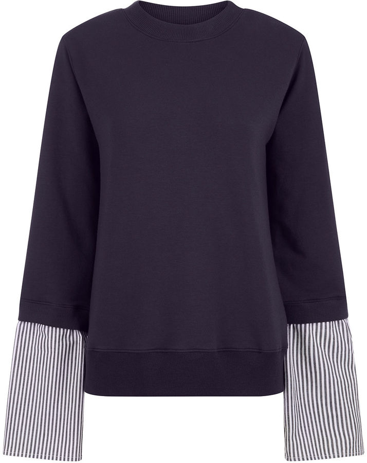 Clu Clu Navy Mix Media Sweatshirt