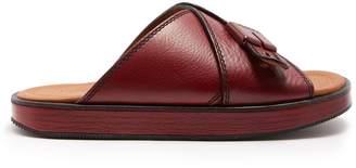 Joseph Crossover leather flatform slides