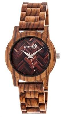 Earth Wood Men's Crown Bracelet Watch, 44mm