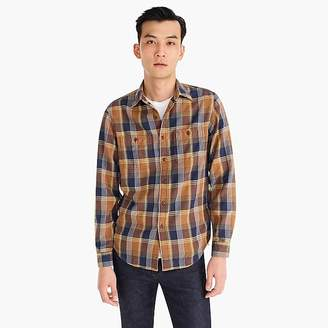 J.Crew Wallace & Barnes midweight flannel shirt in rustic plaid