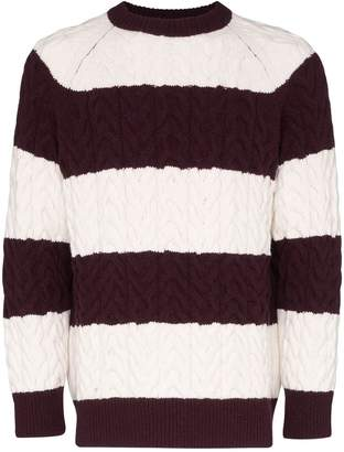 Sunnei striped cable-knit jumper