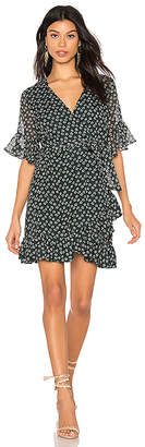 1 STATE Flounce Flower Wrap Dress