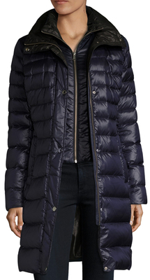 Gayle Tall Hooded Puffer Coat $595 thestylecure.com
