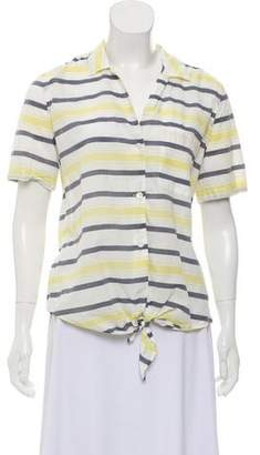 Equipment Printed Button-Up Top